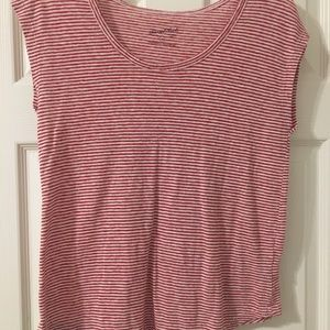 Red and white striped t shirt